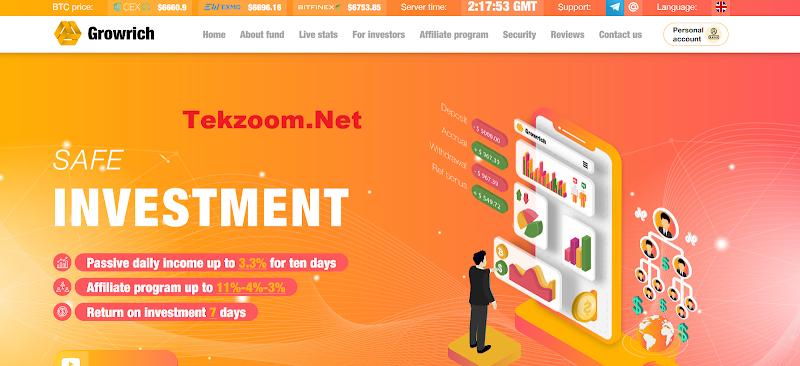 [SCAM] Review Hyip GrowRich.Biz - Site đầu tư hấp dẫn lãi up 3.3% hằng ngày - Thanh toán Manual