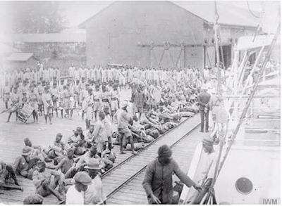 Historical Pix; Lord Lugard Inspecting Nigerian Wounded Soldiers On Their Return From East Africa