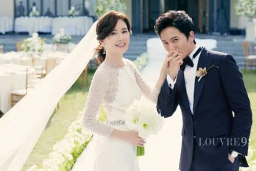 Ji Sung dan Lee Bo Young wedding