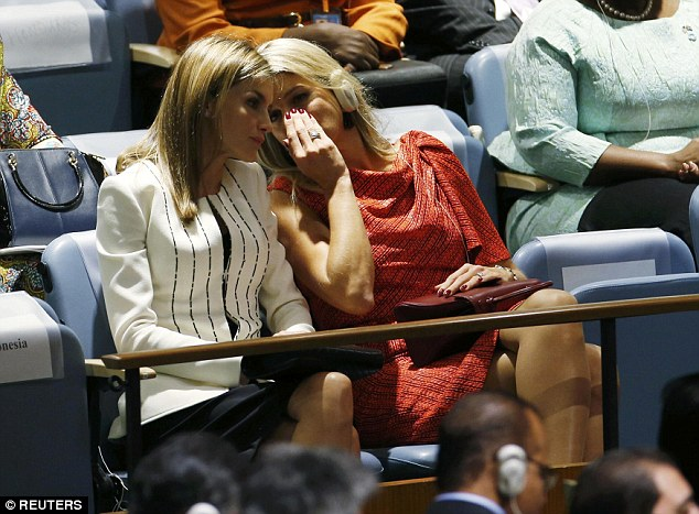 The two Queens in New York at the UN Assembly. The King and Queen of Spain are currently on visit to New York for the annual summit; whereas the Queen of the Netherlands