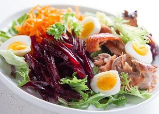 вкусный рецепт салата с лососем