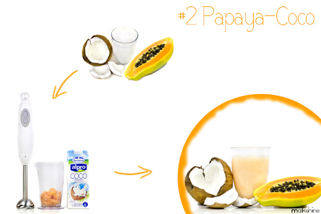 Coconut - papaya smoothie