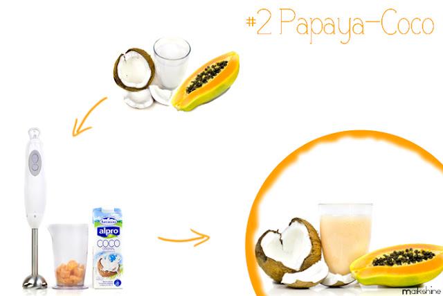 Coconut - papaya smoothie
