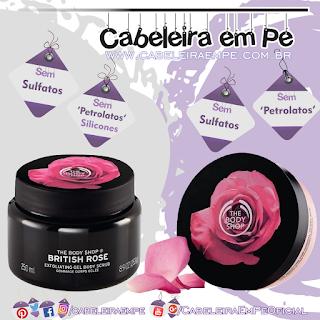 Esfoliante (Sem Sulfatos, Sem Petrolatos e Sem Silicones) e Body Butter Rosas Inglesas (Sem Sulfatos e Sem Petrolatos)