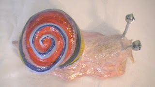 Finished Beautiful Snail with Paper Mache