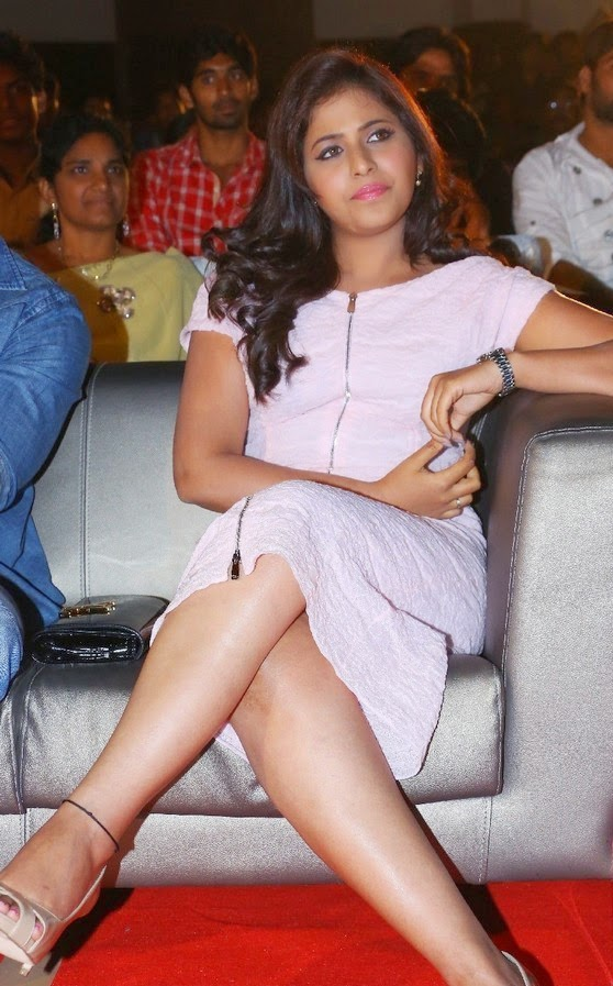 Anjali Hot Thigh Show Photos In White Dress