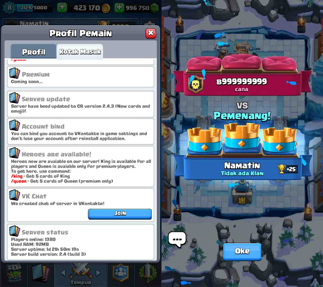 cheat mod clash royale tanpa root terbaru
