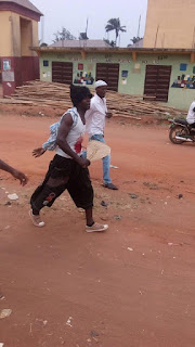 Man Seen In Imo Moving About With Blood Stain And Knife Stuck In His Stomach 2