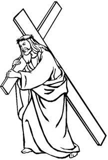 jesus carrying cross coloring pages - photo#8