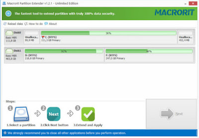 Screenshot Macrorit Partition Extender Unlimited Edition 1.2.1 Full Version