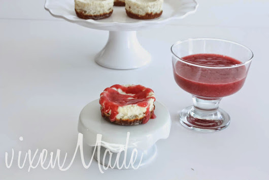 vixenMade: Clean Cottage Cheesecakes with Strawberry Topping