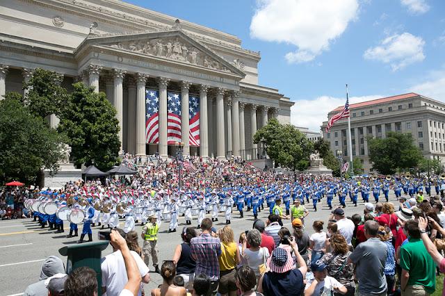 Curtir 4 de julho no verão em Washington