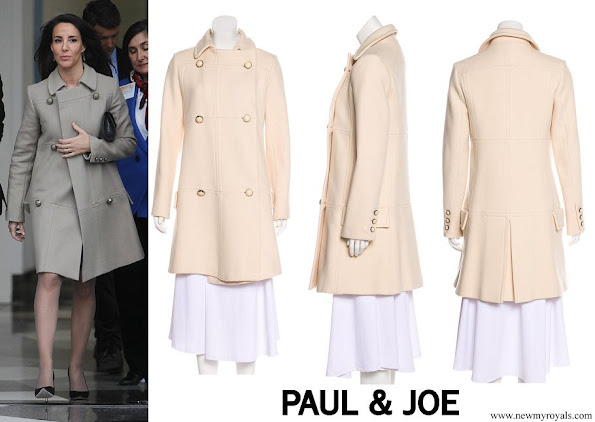 Princess Marie wore Paul & Joe Wool Blend Knee Length Coat