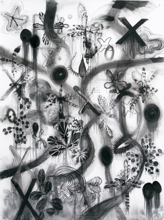 Riette Wanders untitled, 2015 charcoal on paper 200 x 150 cm