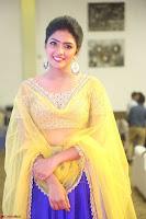 Actress Eesha in Yellow Choli Blue Ghagra at Darshakudu music launch 040.JPG