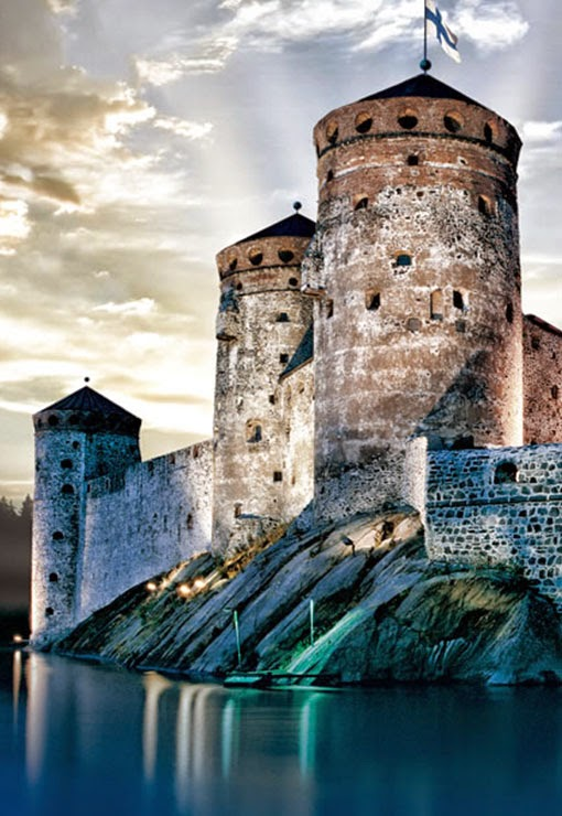 Olavinlinna is a 15th-century three-tower castle located in Savonlinna, Finland. It is the northernmost medieval stone fortress still standing.The castle is