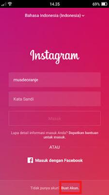 Cara Buat Instagram