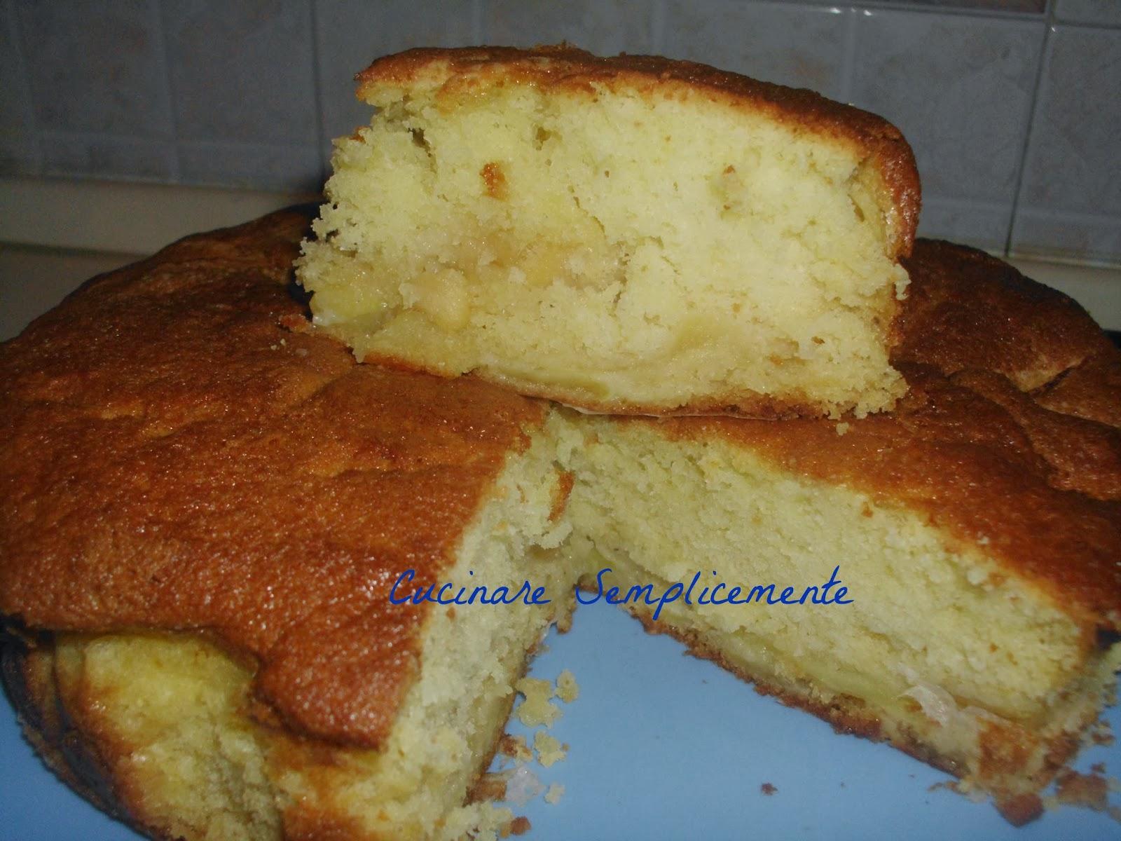 Cucinare Semplicemente Torta Di Mele Con La Panna