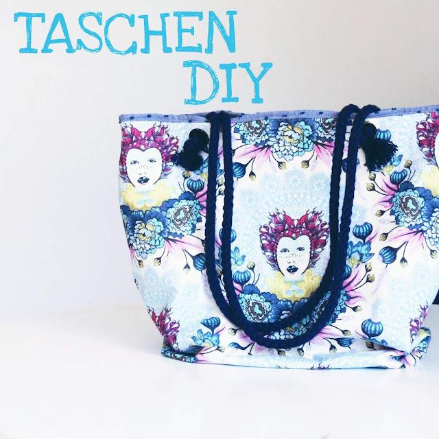 GrinseStern, Tutorial, DIY, Nähanleitung, Tasche, Strandtasche, Tula pink, nähen lernen