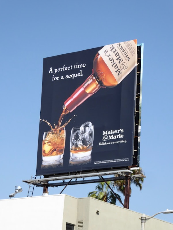 perfect time sequel Maker's Mark billboard