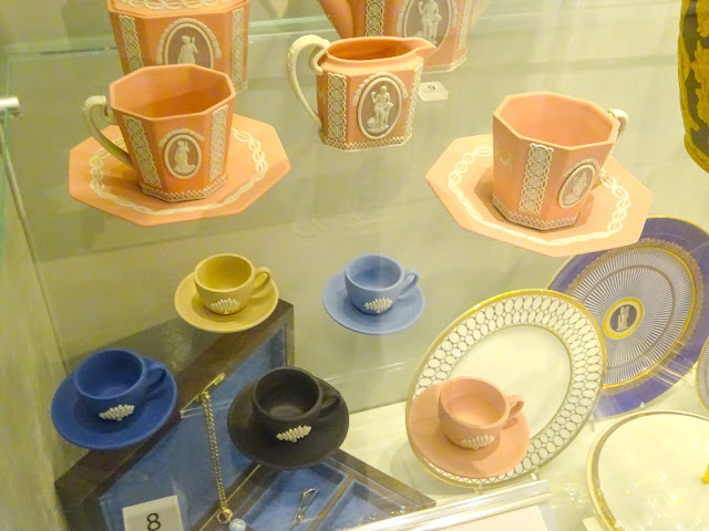 Wedgwood Pink Jasperware Cups and Saucers
