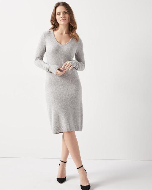 La douillette robe en tricot coupe droite - RW&CO