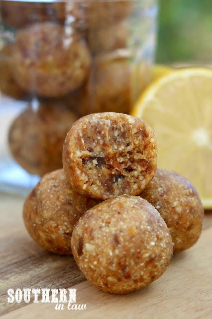 Raw Vegan Lemon Cashew Energy Balls Recipe - paleo bliss balls, energy bites, protein balls, healthy, gluten free, grain free, sugar free, peanut free. coconut free