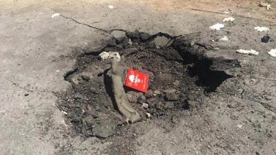 Imagen publicada en medios de comunicación de EE.UU. para justificar que los supuestos ataques químicos se hicieron desde el aire.
