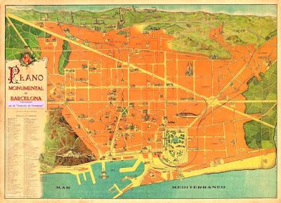 Plànol monumental de Barcelona (1915-1920)