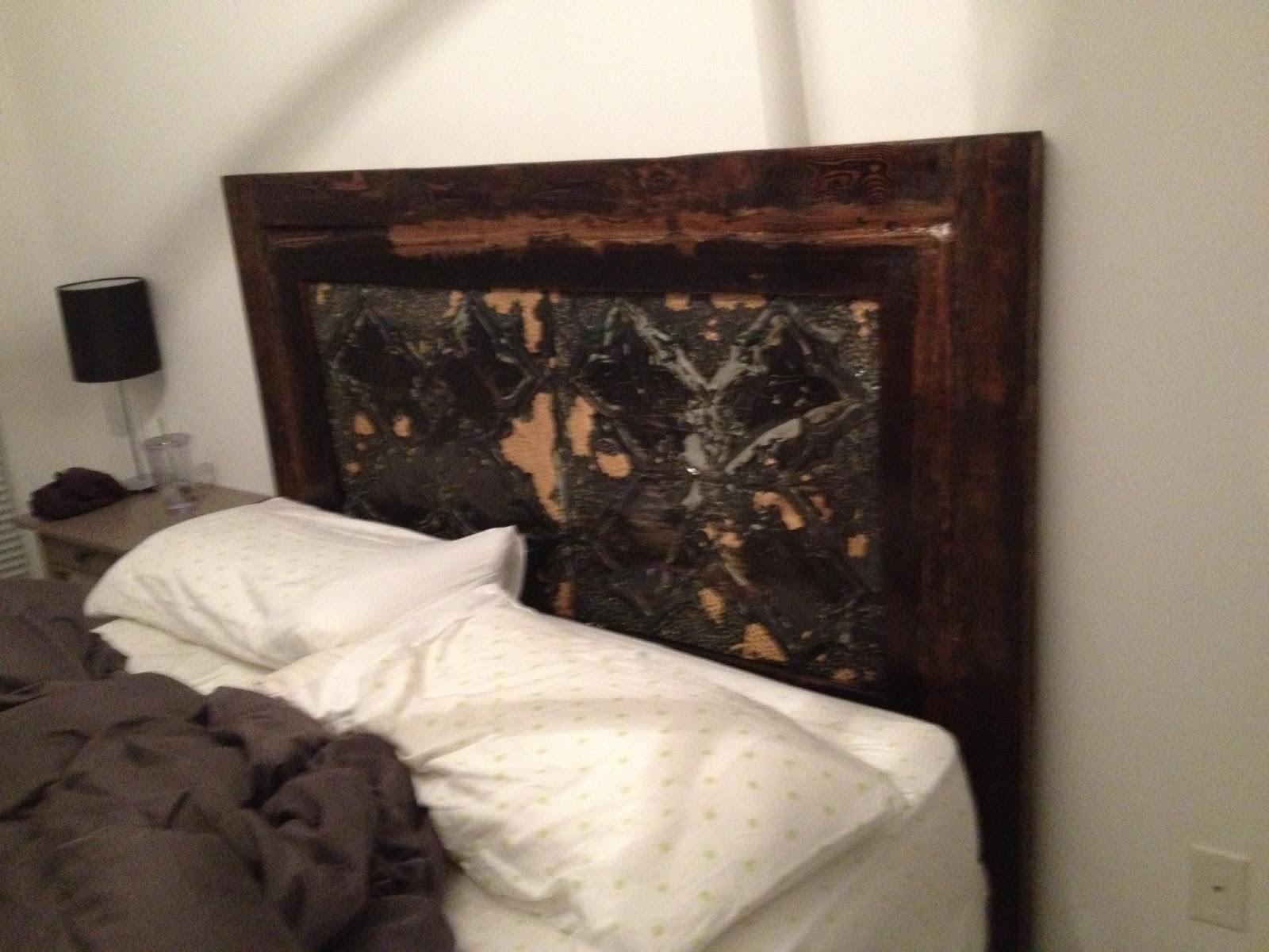 Ceiling Tile Headboard