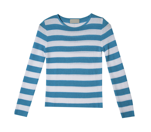 Slim Long Sleeve Striped Top