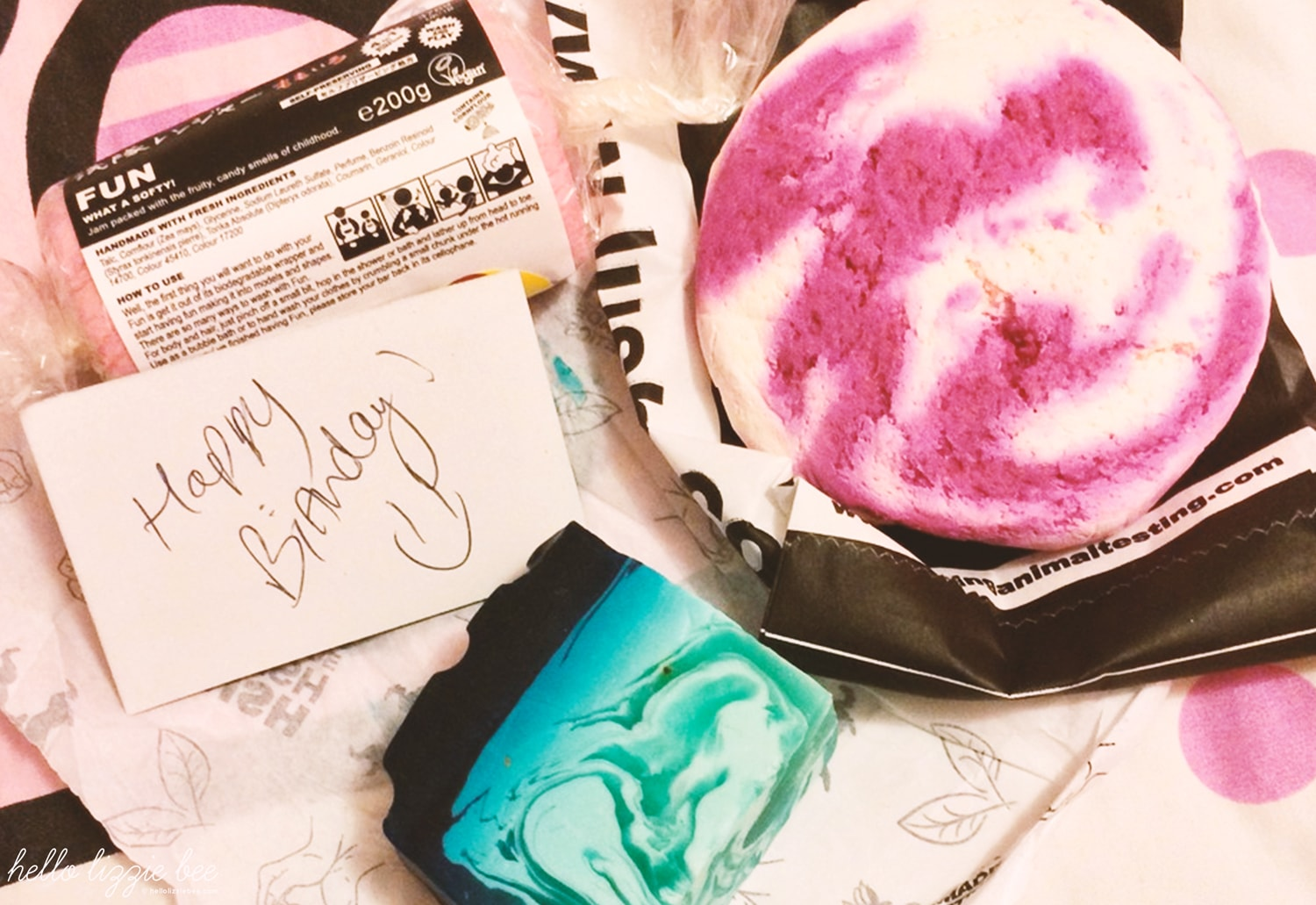 birthday treats from Lush