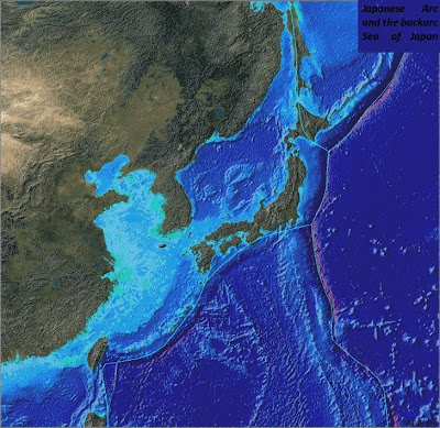 Japanese Arc and the backarc Sea of Japan
