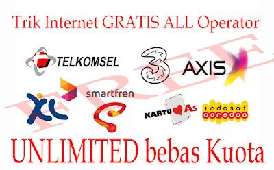 Trik cara internet Gratis tanpa kuota Unlimited Semua Operator