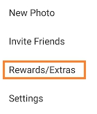click on Rewards/Extras