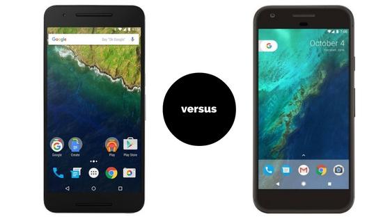 Google Pixel XL versus Huawei Nexus 6P