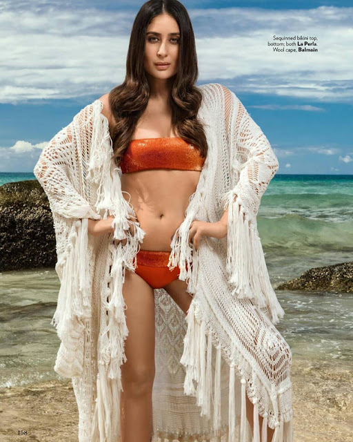 Kareena Kapoor Hot Bikini Still For Vogue Magazine