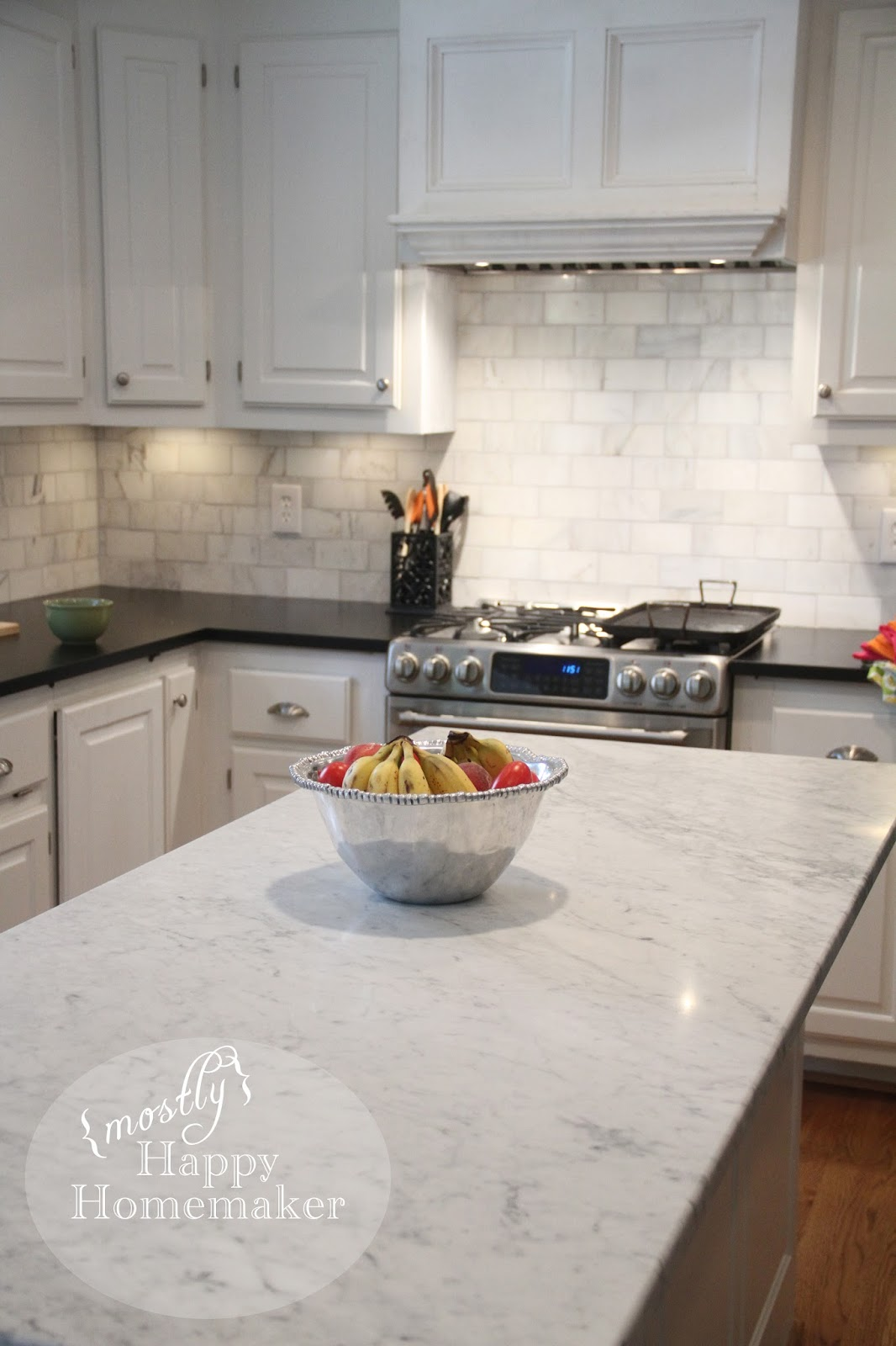 Mostly Happy Homemaker White Marble Countertop