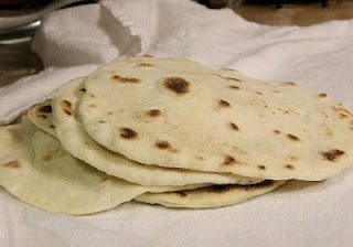 Tortilla - flatbread made from wheat flour