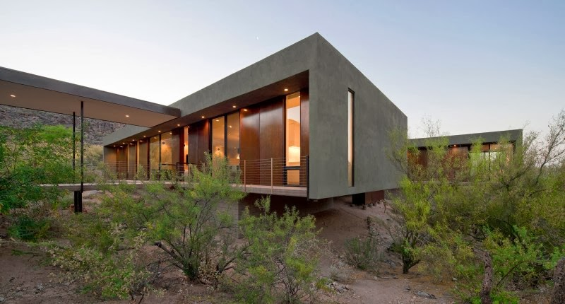 Hogares frescos moderna residencia con losas de hormig n for Casa moderna hormigon