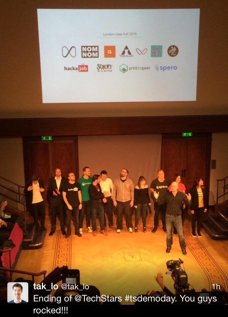 Techstars 2015 London cohort