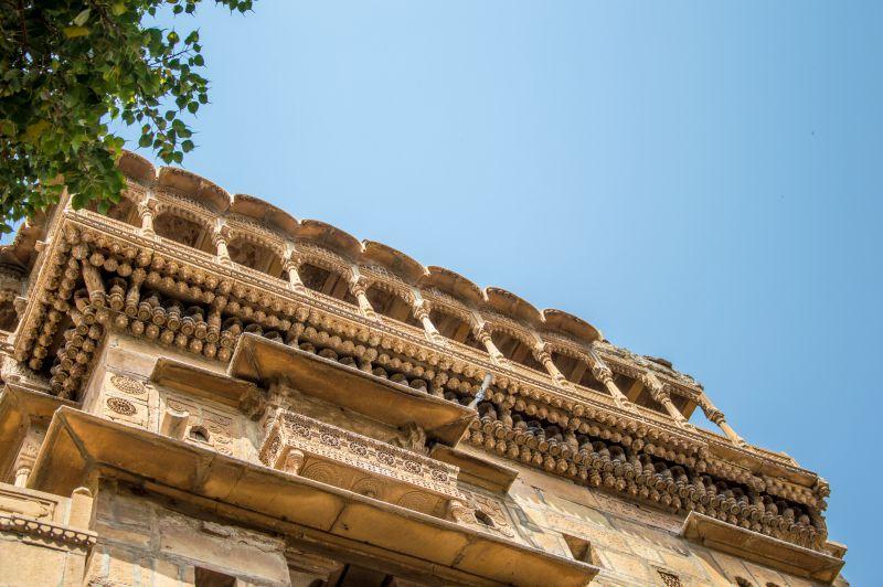Beautiful Peacock shaped roof of Salim Singh Ki Haveli