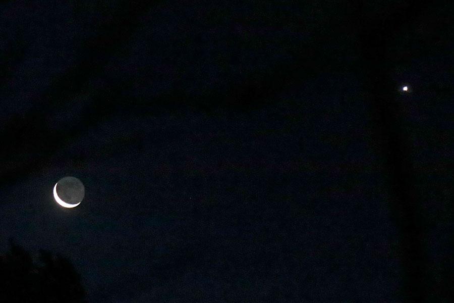Nymåne och Venus