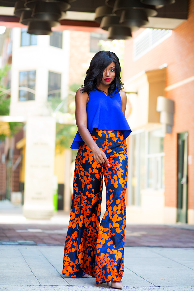 simply intricate nyc floral pants, cameo collective crop top, tiffany and co bracelet