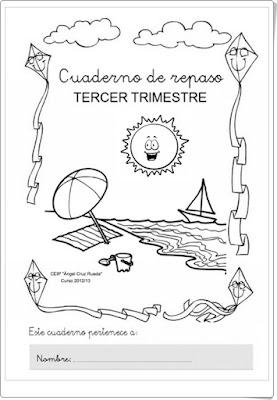 """""""Cuadernos de repaso de Lengua y Matemáticas de 1º de Primaria por trimestres"""". Colegio Ángel Cruz Rueda de Cabra (Córdoba)"""