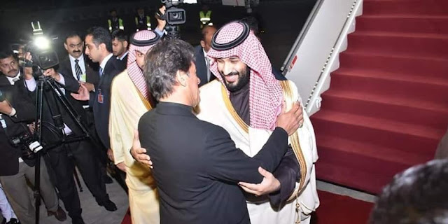 Cover Image Attribute: Saudi Crown Prince Mohammed bin Salman received by Pakistani Prime Minister Imran Khan at PAF Nur Khan Air Base / Benazir Bhutto Int'l Airport (Feb 17, 2019).