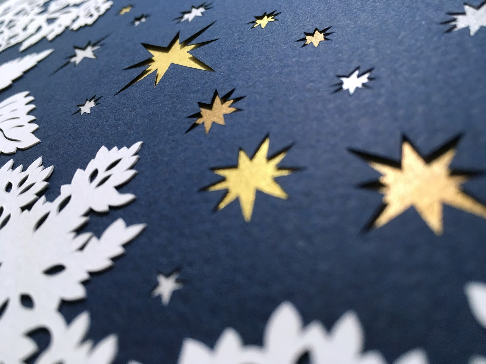 starry night papercut for Jewish wedding
