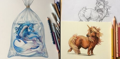 00-Grace-Fantasy-Animals-Colored-Pencils-Drawings-www-designstack-co