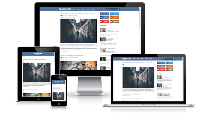 Social FV шаблон для сайта на blogger с элементами дизайна социальных сетей