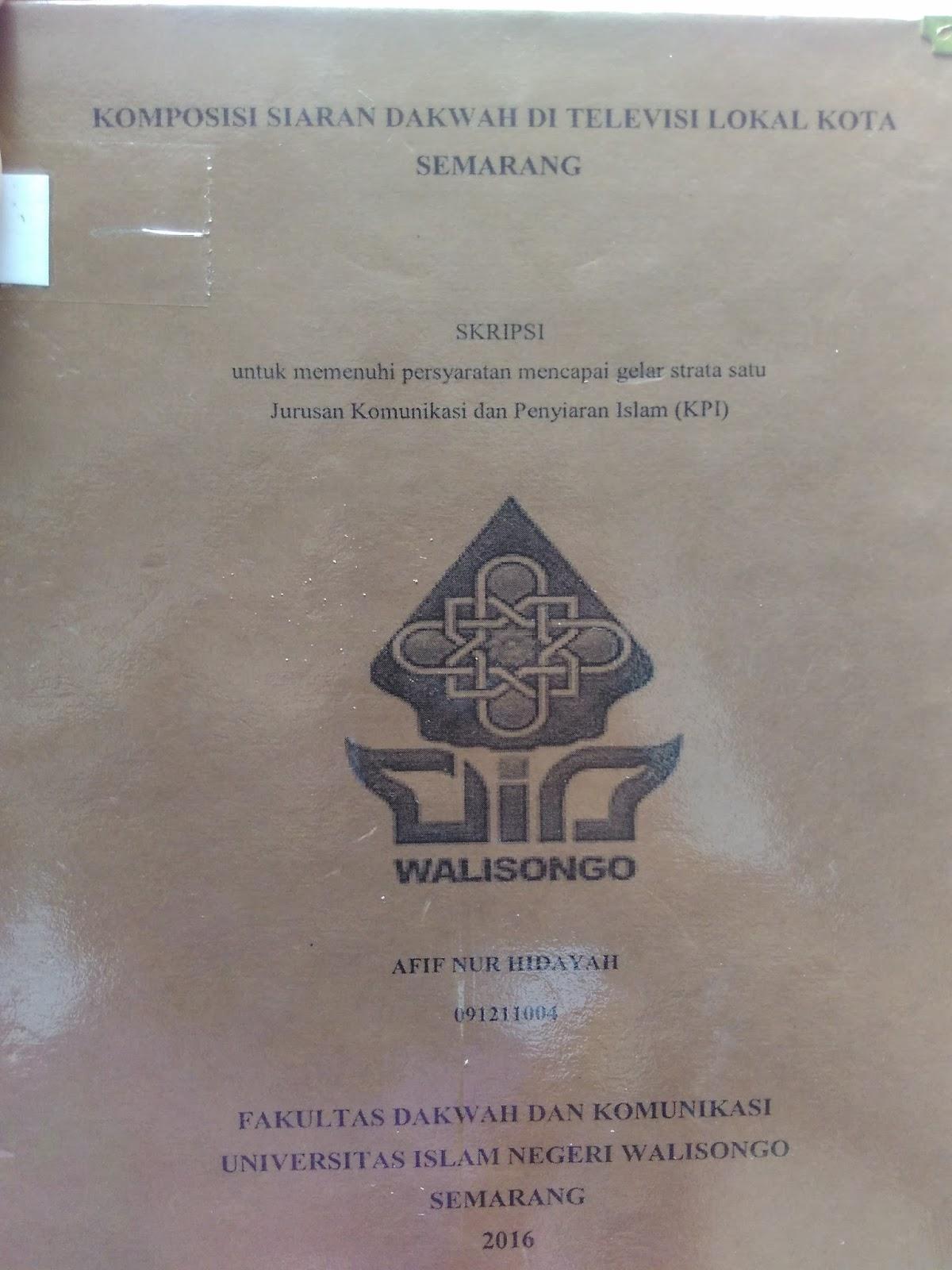 Monggoh Mampir Menganalisis Skripsi Uin Walisongo Semarang
